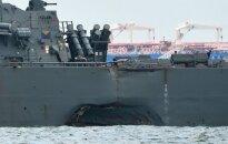 Второй за лето американский эсминец столкнулся с торговым судном