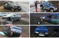 Западная Литва: из-за скользкого покрытия дороги - масса аварий