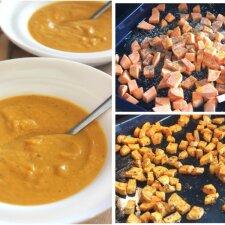 Ypatingo skonio saldžiųjų bulvių ir morkų trinta sriuba