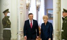 Andrzejus Duda ir Dalia Grybauskaitė