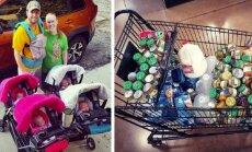 Pakeisti 60 sauskelnių, visus pamaitinti... 5 kūdikių mama papasakojo, kaip atrodo jos diena