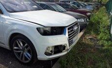 Kauno oro uosto aikštelėje vagys suniokojo Audi Q7
