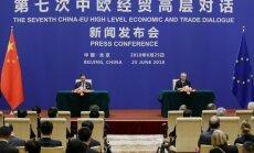 ES ir Kinijos ekonomikos susitikimas: kairėje Jyrki Katainenas (ES), dešinėje Liu He (Kinija)