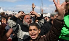Protestuotojai prieš Sirijos režimą