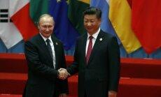 Rusijos prezidentas Vladimiras Putinas ir Kinijos prezidentas Xi Jinpingas