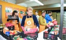 Dalia Grybauskaitė Maisto banko akcijoje