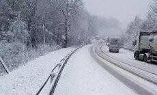 Sniegas Lenkijos pietvakariuose. Foto / DELFI skaitytojas
