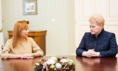 Jurgita Petrauskienė ir Dalia Grybauskaitė