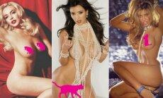 Karščiausi PLAYBOY kadrai: Kim Kardashian, Lindsay Lohan ir kitos žvaigždės viršeliuose