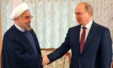 Vladimiras Putinas ir Hassanas Rouhanis