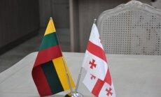 Lietuvos ir Gruzijos vėliavos