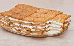 Sausainių ir varškės pyragas vaikams