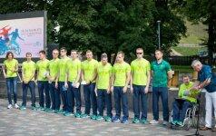В Рио-де-Жанейро проводили литовских параолимпийцев