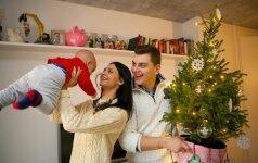 Atviras interviu su Rolandu ir Ieva Mackevičiais apie pirmąsias Kalėdas trise FOTO