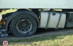 В Тракайском районе задержан нетрезвый дальнобойщик из России