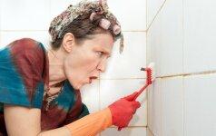 Puiki naminė priemonė plytelių tarpams išbalinti