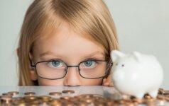 Ar žinote, kokio amžiaus vaikui reikia duoti pirmųjų kišenpinigių?