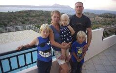 Su trimis vaikais išvažiavo gyventi į Kretą: lietuvių šeimos įspūdžiai
