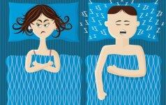 Įprotis dalintis viena antklode gali pakenkti sveikatai ir santykiams