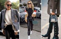 9 stilingi būdai dėvėti odines kelnes ir atrodyti nepriekaištingai