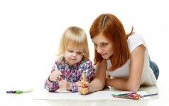 Drauge su vaikais darome atviruką tėčiui