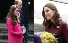 Besilaukianti Kate Middleton pademonstravo idealų derinį nėštukėms