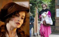 Nustebsi pamačiusi, kaip realybėje atrodo aktorė Helena Bonham Carter