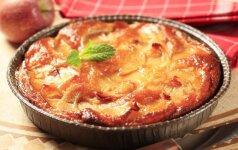 Dietinis obuolių pyragas
