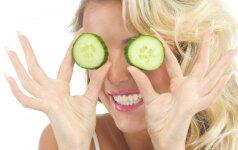 Kokius stebuklus su tavo veidu gali padaryti agurkas