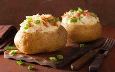 Kimštos šviežios bulvės