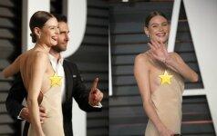 Vakarėlyje supermodeliui Behati Prinsloo išsprūdo krūtis