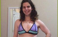 21 metų mergina pirmą kartą pasirodė su bikiniu ir...