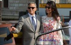 Išplepėjo, kokios lyties dvynių laukiasi Clooney