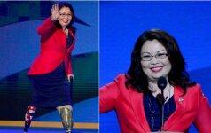 Kare kojų netekusi 50-metė JAV senatorė tapo mama