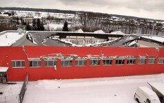 ВИДЕО, ФОТО: Во время матча по флорболу обрушилась крыша спортзала