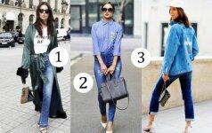 3 madingiausi pavasario džinsai, kurie tiks visoms