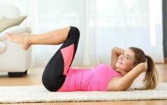 Paprastas pratimų kompleksas, kurį darydama sustiprinsi ir padailinsi kūną