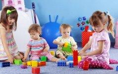 Į lopšelį nuo vienerių metų vaikai leidžiami ne tik iš vargo