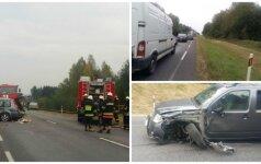 Авария на дороге Алитус-Даугай: для спасения людей вызваны службы