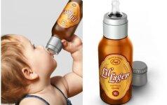 SKANDALAS: kūdikiams siūlo gerti alų? FOTO