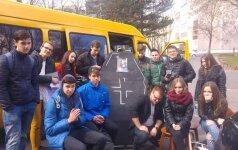 Į Ignaliną važiavę Panevėžio gimnazistai. Foto / DELFI skaitytojas