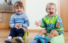 Mamos dalijasi patirtimi, kaip atpratino vaikus nuo sauskelnių