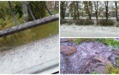 Lietuvoje – pirmasis sniegas