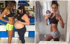 Gąsdinančiu lieknumu stebinusi nėščia gražuolė – vėl dėmesio centre