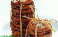 Morkų ir sezamų sausainiai mamos receptas
