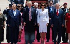 Melania ir Donaldas Trumpai atvyksta į Izraelį