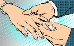 Ant kurio piršto turėtum nešioti savo žiedus