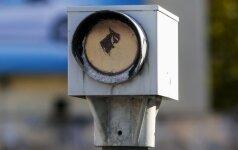 Литовские водители варварски выводят из строя посты контроля скорости