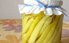 Marinuotos šparaginės pupelės