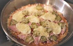 Metų atradimas: pica keptuvėje per 15 minučių!
